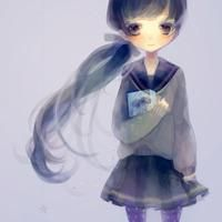 QQ手绘系列女生头像图片